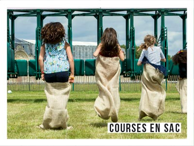 Animations - course en sac - Les Dimanches au Galop